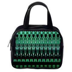 Green Triangle Patterns Classic Handbags (one Side)