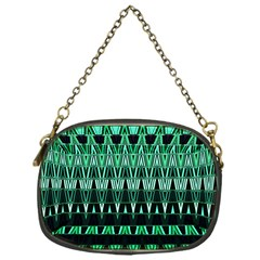 Green Triangle Patterns Chain Purses (One Side)