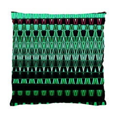 Green Triangle Patterns Standard Cushion Case (One Side)