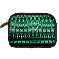 Green Triangle Patterns Digital Camera Cases