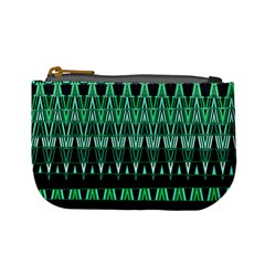 Green Triangle Patterns Mini Coin Purses