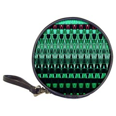 Green Triangle Patterns Classic 20-CD Wallets