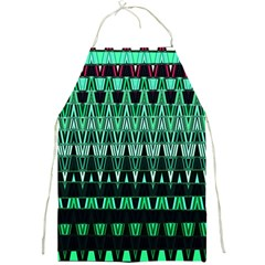 Green Triangle Patterns Full Print Aprons