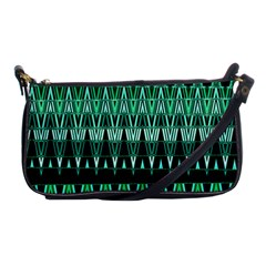Green Triangle Patterns Shoulder Clutch Bags
