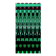 Green Triangle Patterns Shower Curtain 36  x 72  (Stall)