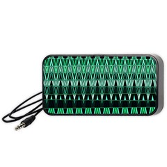 Green Triangle Patterns Portable Speaker (black)