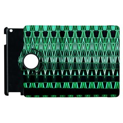 Green Triangle Patterns Apple Ipad 3/4 Flip 360 Case