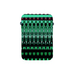 Green Triangle Patterns Apple Ipad Mini Protective Soft Cases
