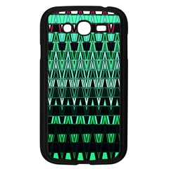Green Triangle Patterns Samsung Galaxy Grand Duos I9082 Case (black)