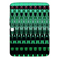 Green Triangle Patterns Samsung Galaxy Tab 3 (10.1 ) P5200 Hardshell Case