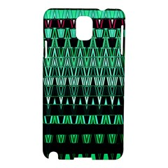 Green Triangle Patterns Samsung Galaxy Note 3 N9005 Hardshell Case