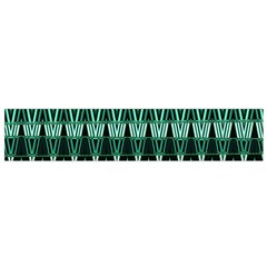 Green Triangle Patterns Flano Scarf (small)
