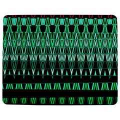 Green Triangle Patterns Jigsaw Puzzle Photo Stand (Rectangular)