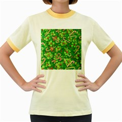 Green Holly Women s Fitted Ringer T-Shirts