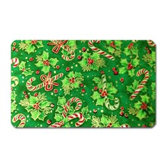 Green Holly Magnet (Rectangular)