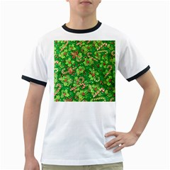 Green Holly Ringer T Shirts