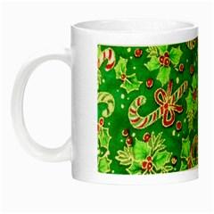 Green Holly Night Luminous Mugs