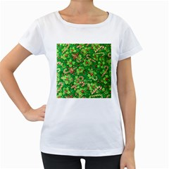 Green Holly Women s Loose Fit T Shirt (white)