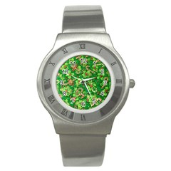 Green Holly Stainless Steel Watch