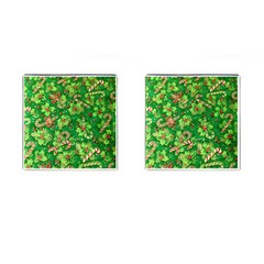 Green Holly Cufflinks (Square)