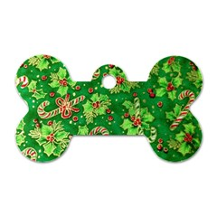 Green Holly Dog Tag Bone (Two Sides)