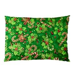 Green Holly Pillow Case