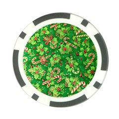 Green Holly Poker Chip Card Guard (10 pack)