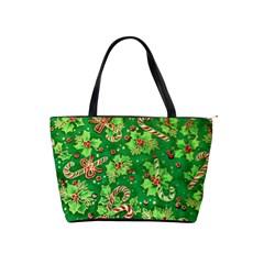 Green Holly Shoulder Handbags