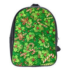 Green Holly School Bags(Large)