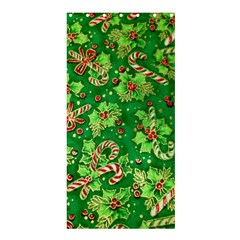 Green Holly Shower Curtain 36  x 72  (Stall)