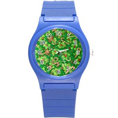 Green Holly Round Plastic Sport Watch (s)