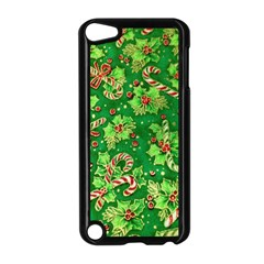 Green Holly Apple iPod Touch 5 Case (Black)
