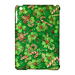 Green Holly Apple Ipad Mini Hardshell Case (compatible With Smart Cover)