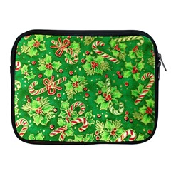 Green Holly Apple iPad 2/3/4 Zipper Cases