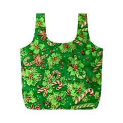 Green Holly Full Print Recycle Bags (m)