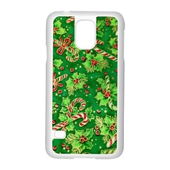 Green Holly Samsung Galaxy S5 Case (white)
