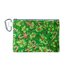 Green Holly Canvas Cosmetic Bag (M)