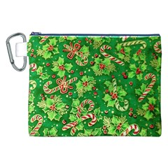Green Holly Canvas Cosmetic Bag (xxl)