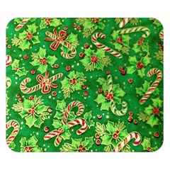 Green Holly Double Sided Flano Blanket (Small)