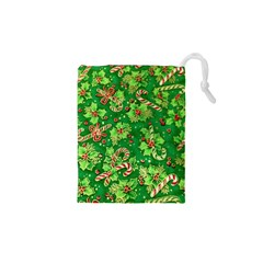 Green Holly Drawstring Pouches (XS)