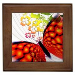 Greeting Card Butterfly Kringel Framed Tiles
