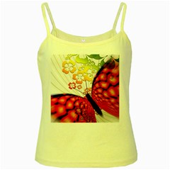 Greeting Card Butterfly Kringel Yellow Spaghetti Tank