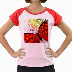 Greeting Card Butterfly Kringel Women s Cap Sleeve T-Shirt