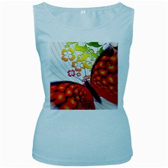 Greeting Card Butterfly Kringel Women s Baby Blue Tank Top