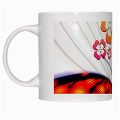 Greeting Card Butterfly Kringel White Mugs