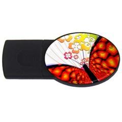 Greeting Card Butterfly Kringel USB Flash Drive Oval (1 GB)