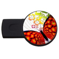 Greeting Card Butterfly Kringel USB Flash Drive Round (4 GB)