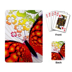 Greeting Card Butterfly Kringel Playing Card