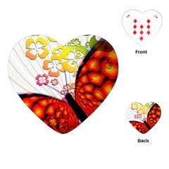 Greeting Card Butterfly Kringel Playing Cards (Heart)