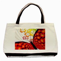 Greeting Card Butterfly Kringel Basic Tote Bag